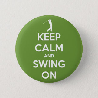 Guarde la calma y balancee en el botón verde de