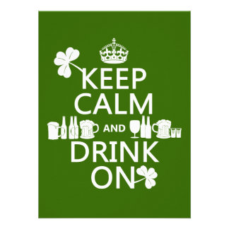 Guarde la calma y beba en los patricks irlandeses comunicado
