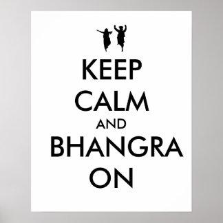 Guarde la calma y Bhangra en personalizable del Impresiones