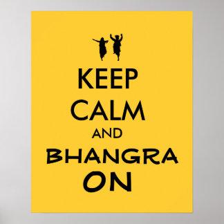 Guarde la calma y Bhangra en personalizable del Posters