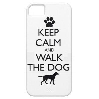 Guarde la calma y camine el paseo lindo de los mas iPhone 5 carcasas
