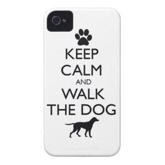 Guarde la calma y camine el paseo lindo de los mas Case-Mate iPhone 4 cárcasa