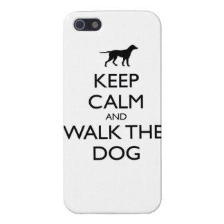 Guarde la calma y camine el paseo lindo de los mas iPhone 5 protector