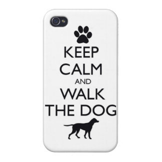 Guarde la calma y camine el paseo lindo de los mas iPhone 4 coberturas