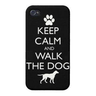 Guarde la calma y camine el paseo lindo de los mas iPhone 4 protector