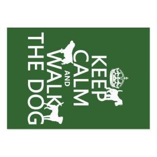 Guarde la calma y camine el perro - todos los colo plantillas de tarjeta de negocio