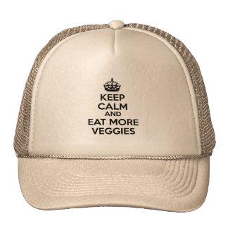 Guarde la calma y coma más Veggies Gorro De Camionero