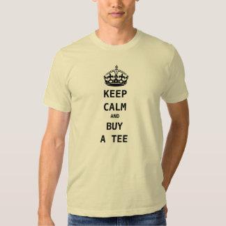 guarde la calma y compre una camiseta