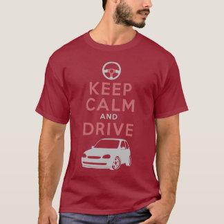 Guarde la calma y conduzca - Corsa- /version5 Camiseta