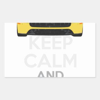 Guarde la calma y condúzcala - bacalao. pegatina rectangular
