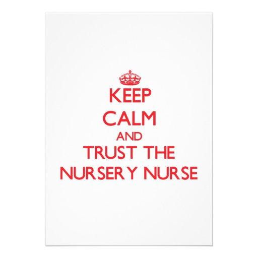 Guarde la calma y confíe en a la enfermera del cua comunicados personales