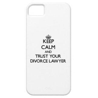 Guarde la calma y confíe en a su abogado de iPhone 5 Case-Mate funda