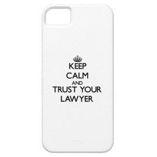 Guarde la calma y confíe en a su abogado iPhone 5 funda