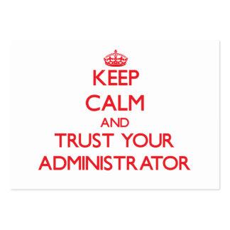Guarde la calma y confíe en a su administrador