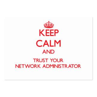 Guarde la calma y confíe en a su administrador de