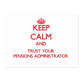 Guarde la calma y confíe en a su administrador de tarjetas de visita grandes