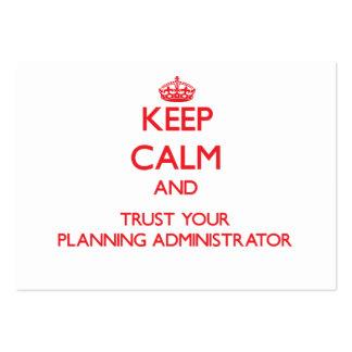 Guarde la calma y confíe en a su administrador del