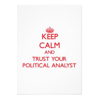 Guarde la calma y confíe en a su analista político