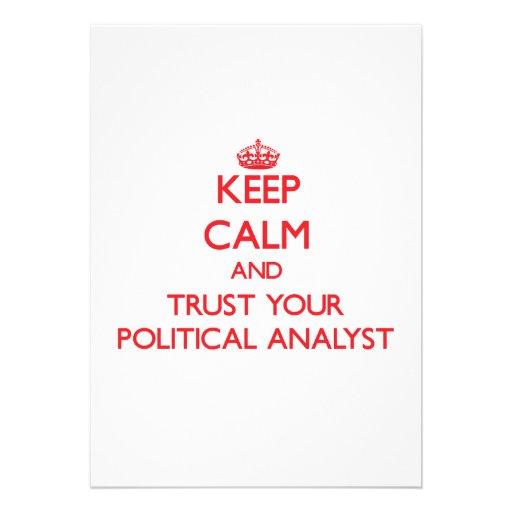 Guarde la calma y confíe en a su analista político anuncios personalizados