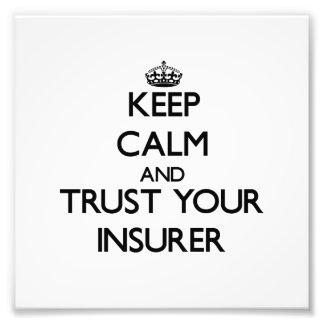 Guarde la calma y confíe en a su asegurador