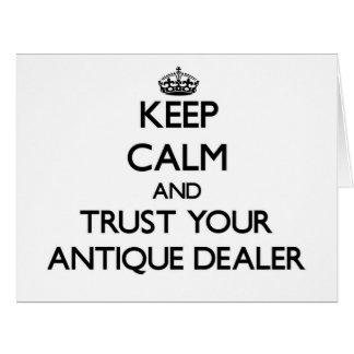 Guarde la calma y confíe en a su distribuidor auto