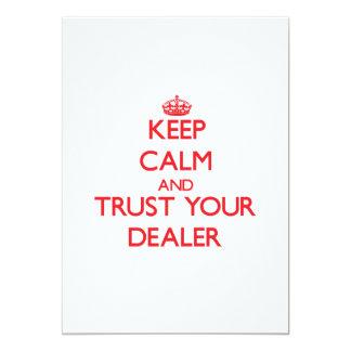 Guarde la calma y confíe en a su distribuidor anuncios