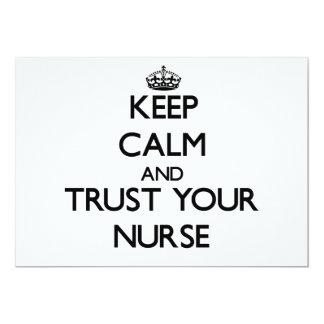 Guarde la calma y confíe en a su enfermera comunicado personalizado