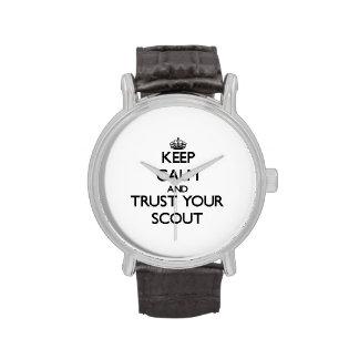 Guarde la calma y confíe en a su explorador relojes de mano