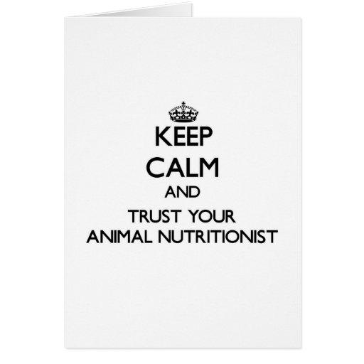 Guarde la calma y confíe en a su nutricionista ani tarjetas
