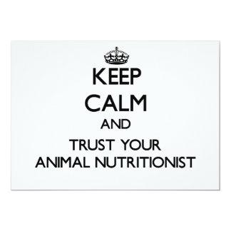 Guarde la calma y confíe en a su nutricionista invitacion personalizada