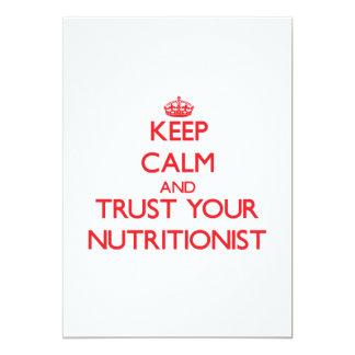 Guarde la calma y confíe en a su nutricionista invitacion personal
