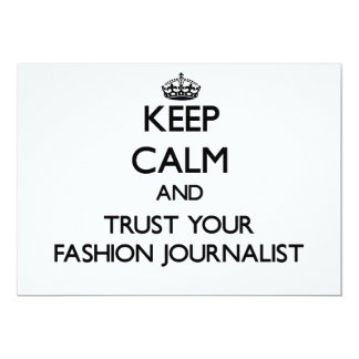 Guarde la calma y confíe en a su periodista de la invitación 12,7 x 17,8 cm