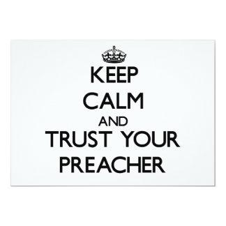 Guarde la calma y confíe en a su predicador anuncio personalizado