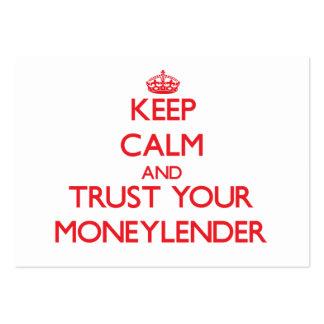Guarde la calma y confíe en a su prestamista