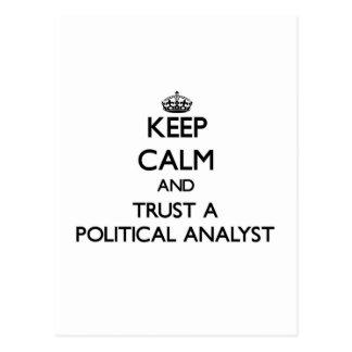 Guarde la calma y confíe en a un analista político postal