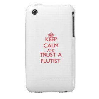 Guarde la calma y confíe en a un flautista Case-Mate iPhone 3 cobertura