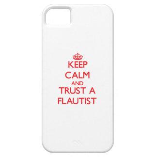Guarde la calma y confíe en a un flautista iPhone 5 fundas