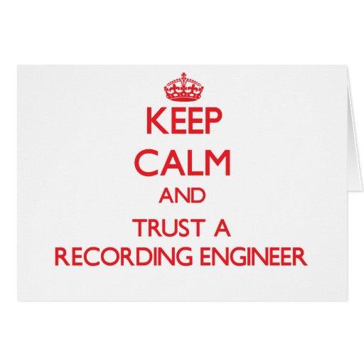 Guarde la calma y confíe en a un ingeniero de la g tarjeton