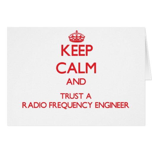 Guarde la calma y confíe en a un ingeniero de la r tarjeton