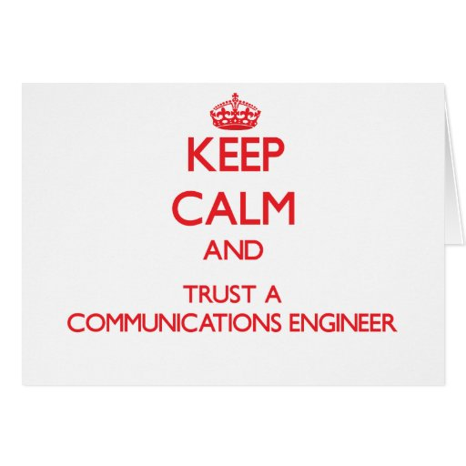Guarde la calma y confíe en a un ingeniero de las  tarjeton