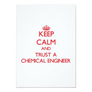 Guarde la calma y confíe en a un ingeniero químico anuncios personalizados