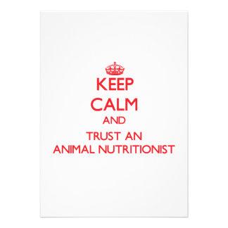 Guarde la calma y confíe en a un nutricionista ani invitaciones personales