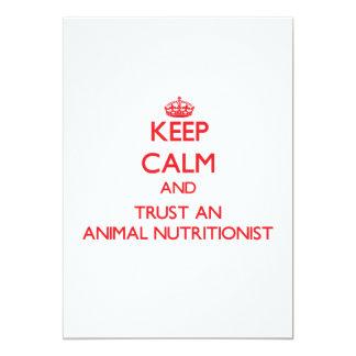 Guarde la calma y confíe en a un nutricionista invitaciones personales