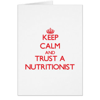Guarde la calma y confíe en a un nutricionista felicitaciones