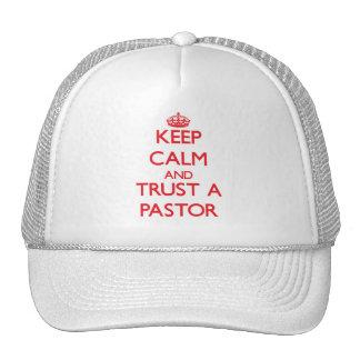 Guarde la calma y confíe en a un pastor gorro
