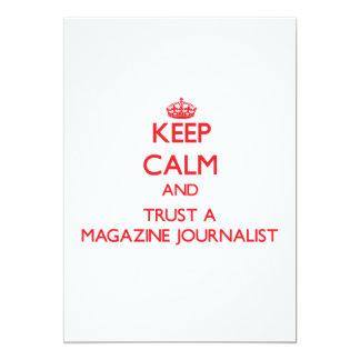 Guarde la calma y confíe en a un periodista de la invitaciones personalizada