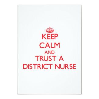 Guarde la calma y confíe en a una enfermera del anuncio