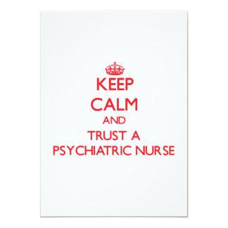 Guarde la calma y confíe en a una enfermera invitacion personalizada