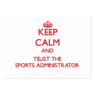 Guarde la calma y confíe en al administrador de lo plantilla de tarjeta de visita