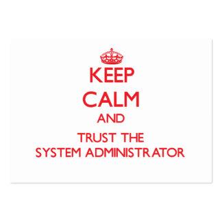 Guarde la calma y confíe en al administrador de si plantillas de tarjetas personales